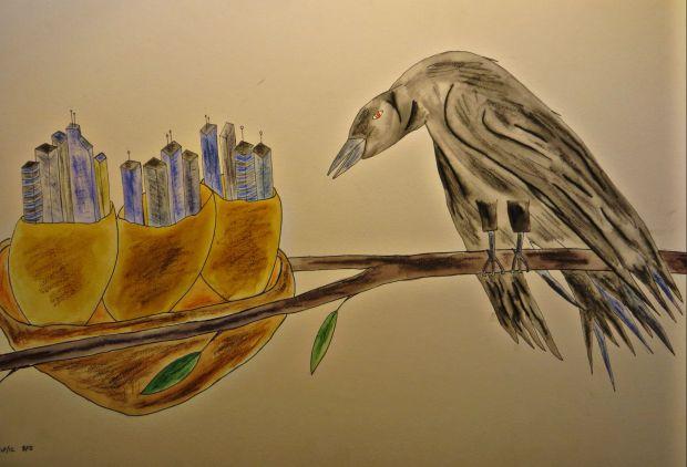 Crow's treetop city