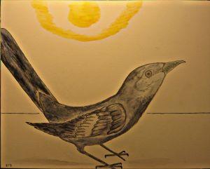 Mocking Bird stands defiant.