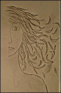 Half portrait.