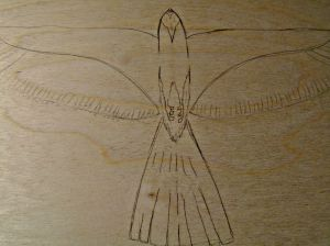"Penciled out on a 1'x2' piece of 1/8"" plywood."